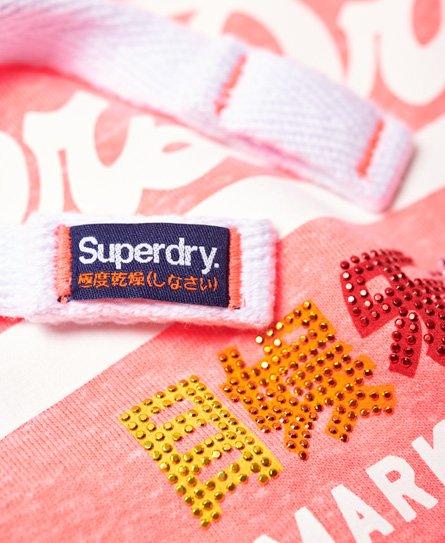 Superdry Vintage Logo Pop Hoodie mit Strassbesatz
