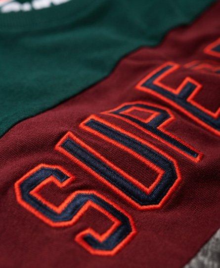 Superdry Applique Colour Block Long Sleeve T-Shirt
