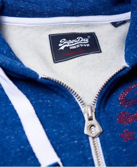 Superdry Real Vintage Rhinestone Zip Hoodie