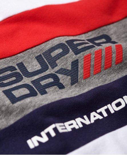 Superdry Trophy Tri Colour Long Sleeve T-Shirt