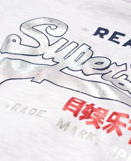 Superdry Vintage Logo Regal Hoodie mit Streifen