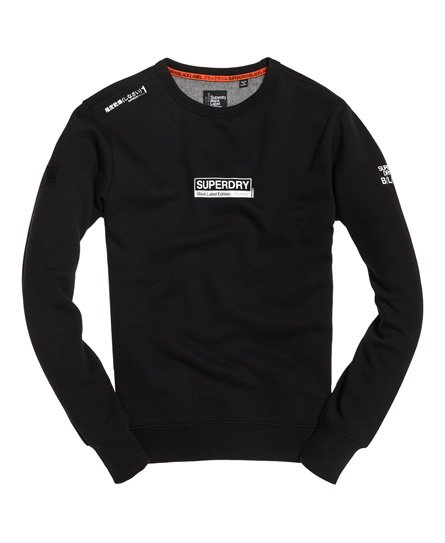 Superdry Sweat Black Label Edition col rond