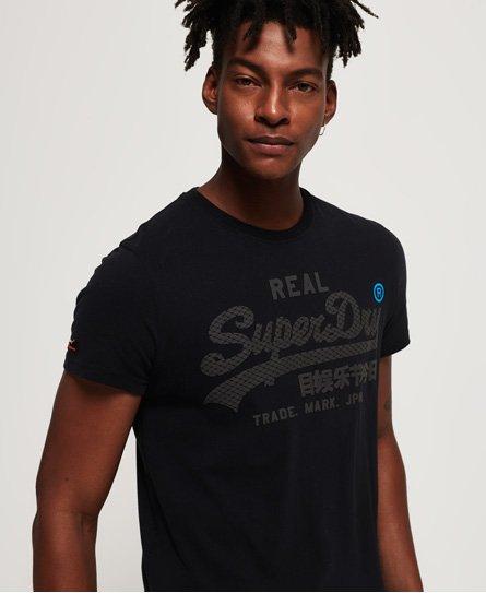 Superdry Schwarz-weißes Vintage Logo T-Shirt