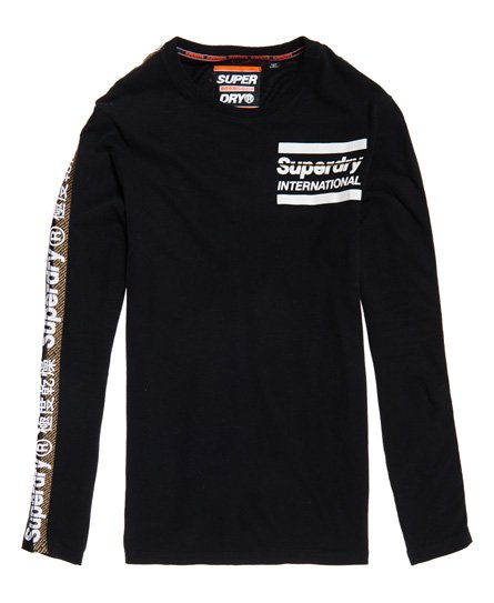 Superdry Pitkähihainen International Monochrome -paita