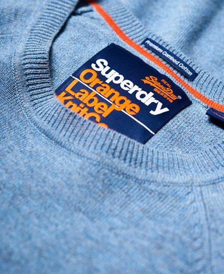 Superdry Pull en coton à col rond Orange Label
