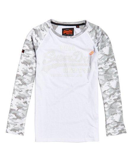 Superdry Vintage Logo Monochrome Long Sleeve T-Shirt