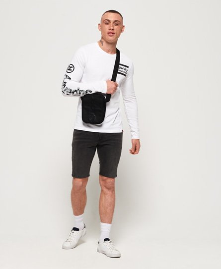 Superdry International Monochrome-T-skjorte med lange ermer