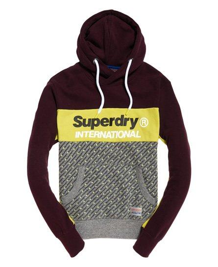 Superdry Trophy Micro Print Track Hoodie