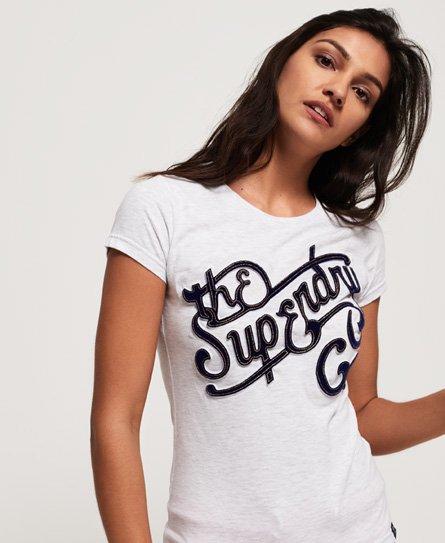 Superdry Super Co Flock T-Shirt mit Prägung