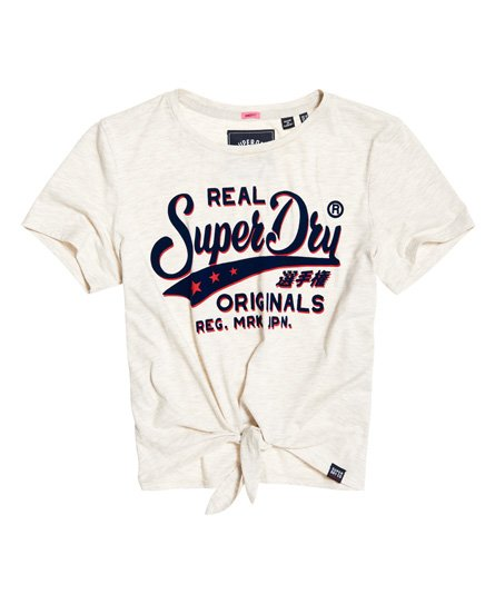Superdry Real Originals Shadow T-Shirt mit Zierknoten