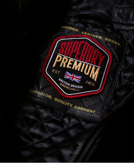Superdry Hero Leather Racer Jacket