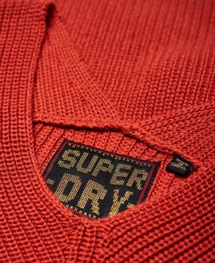 Superdry Pull à col V côtelé Cora