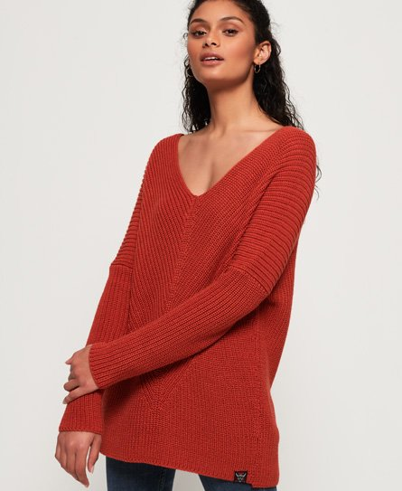 Superdry Cora Ribbed Vee Jumper