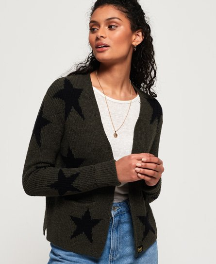 Superdry Rayna Rib Short Cardigan