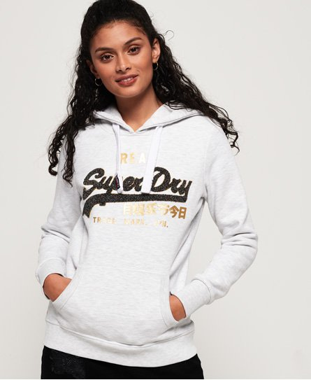 Superdry Vintage Logo Sparkle Chenille Hoodie
