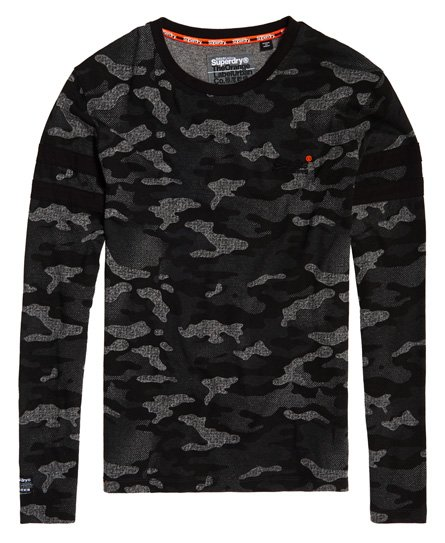Superdry Orange Label Urban Camo Long Sleeve T-Shirt