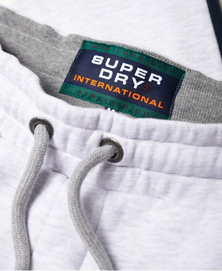 Superdry Pantalon de survêtement à logo appliqué et bande International