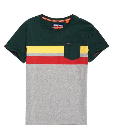 Superdry Terrace Stripe Pocket T-Shirt