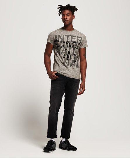 Superdry International Monochrome T-skjorte