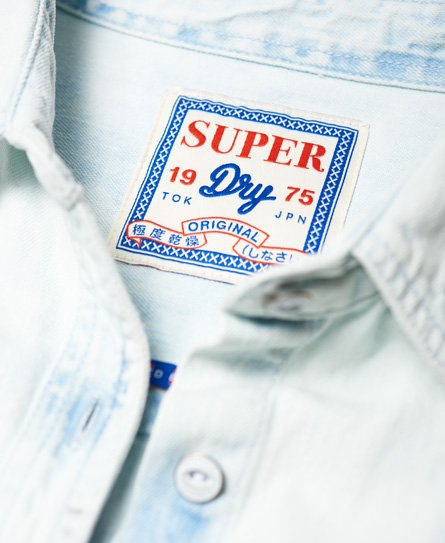 Superdry Oversized Denim hemdjurk