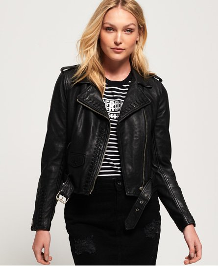 Superdry Kiki Leather Biker Jacket