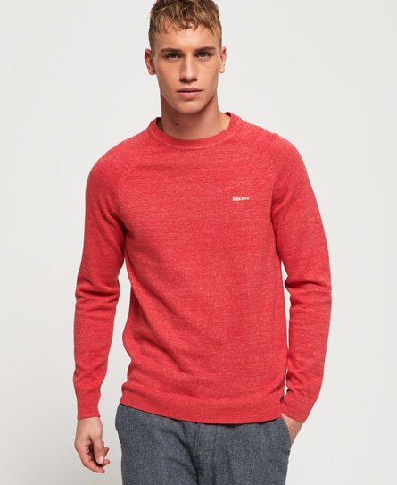 Superdry Pull ras du cou Orange Label en coton