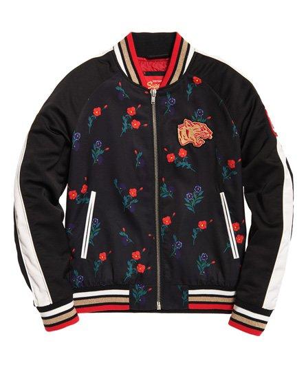 dd4f35aaf6 Womens - CNY Bomber Jacket in Black Floral Print
