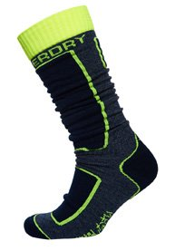 Superdry Snow sokker i merinould, 2 par