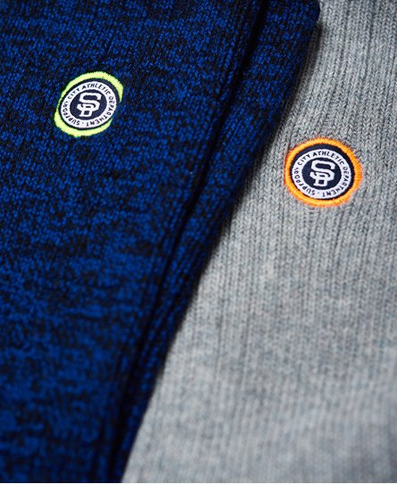 Superdry University Patch Sock Double Pack