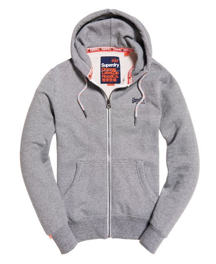Superdry Orange Label, hettegenser med glidelås
