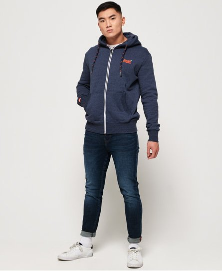 Superdry Felpa con zip e cappuccio Orange Label