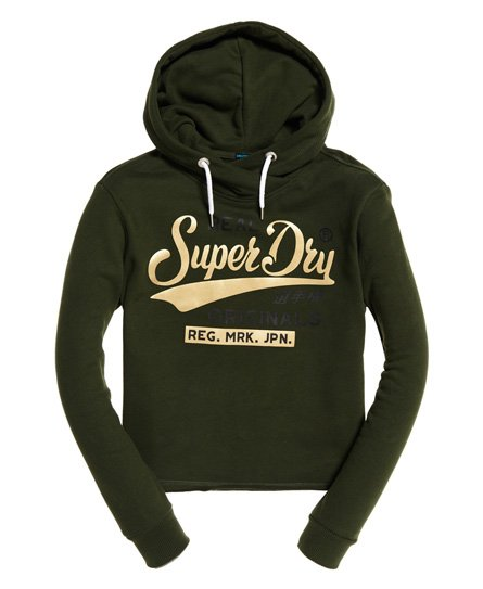 Superdry Korte Real Originals Satin College hoodie