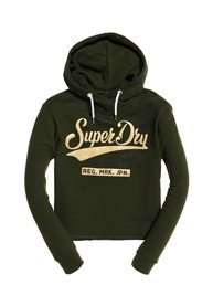 Superdry Sweat à capuche court Real Originals Satin College