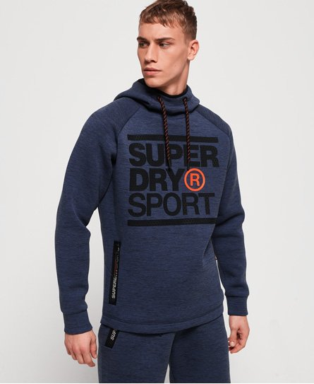 Superdry Sweat à capuche stretch à imprimé Gym Tech