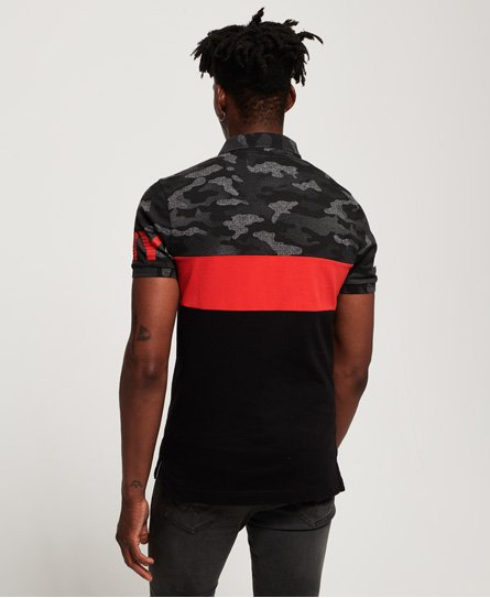 Superdry International Camo Short Sleeve Jersey Polo Shirt