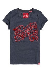 Superdry Super Co Flock T-Shirt mit Prägung