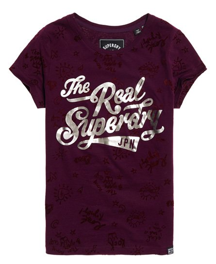 Superdry T-shirt con stampa integrale The Real Doodle