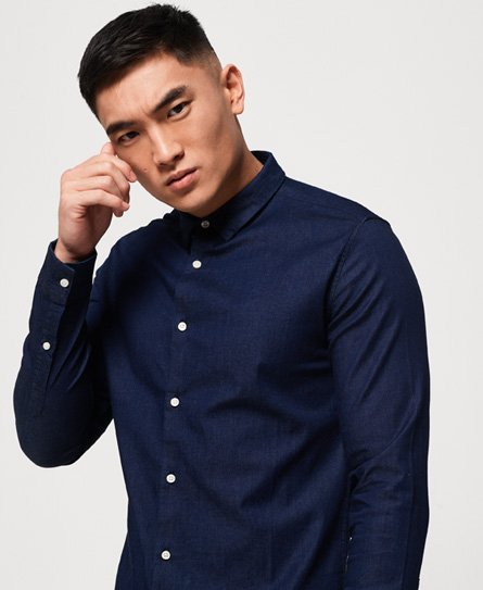 Tailored Indigo Slim Shirt