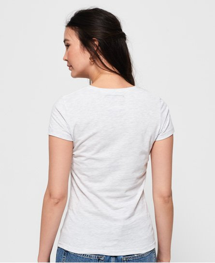 Superdry T-shirt a righe con stemma Tiger lamé