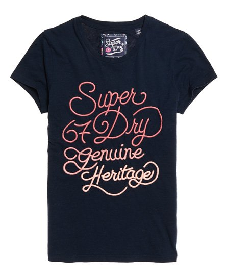 Superdry 67 Genuine Fade T-Shirt mit Stickerei