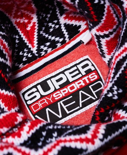 Superdry Winter Sports Knit Crop Hoodie