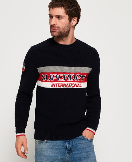 Superdry Athletic Textured trui met ronde hals
