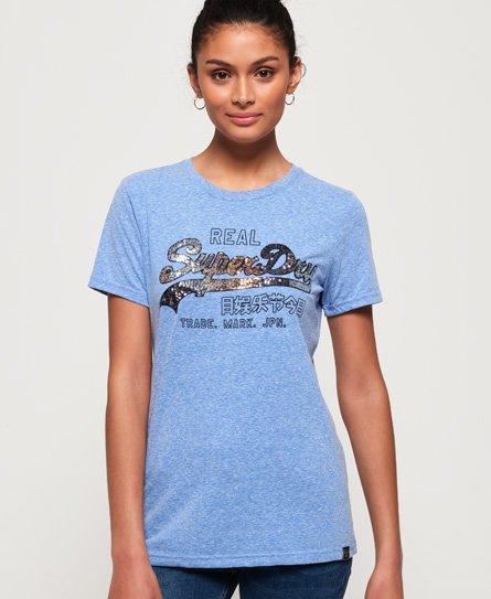 Superdry T-shirt à sequins et logo vintage Carnival