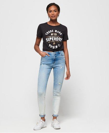 Superdry Sophia-jeans med høyt liv og smal passform