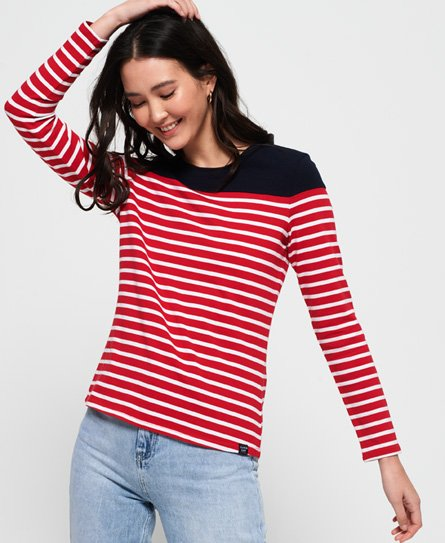Superdry Breton Twist Back Top