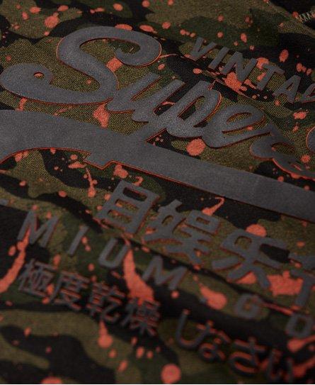 Superdry Premium Goods Hoodie mit durchgehendem Tarn-Print