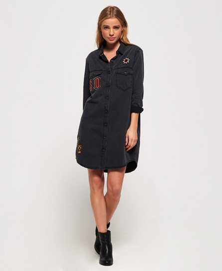 Superdry Oversized Denim skjortekjole