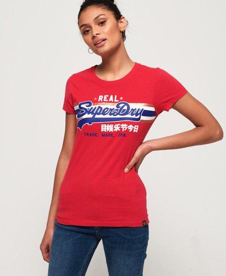 Superdry T-shirt rayé à logo lamé Vintage