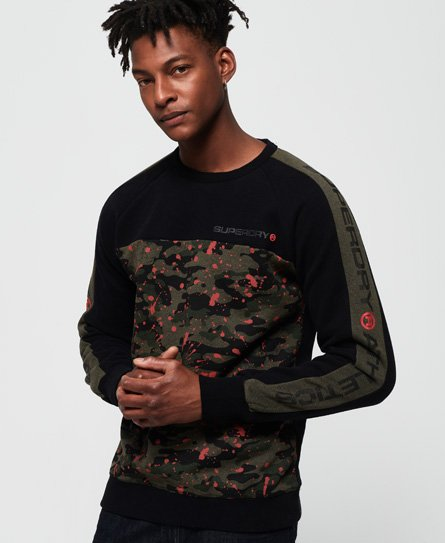 Superdry Trophy Camo Splat Crew Sweatshirt