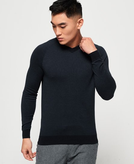Orange Label Cotton Vee Neck Jumper